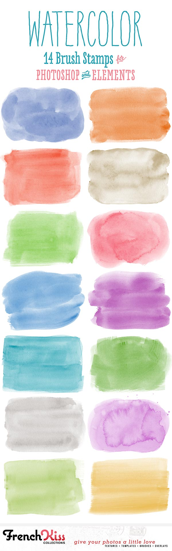 14 watercolor spot brushes