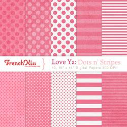 Love Ya dots n' stripes