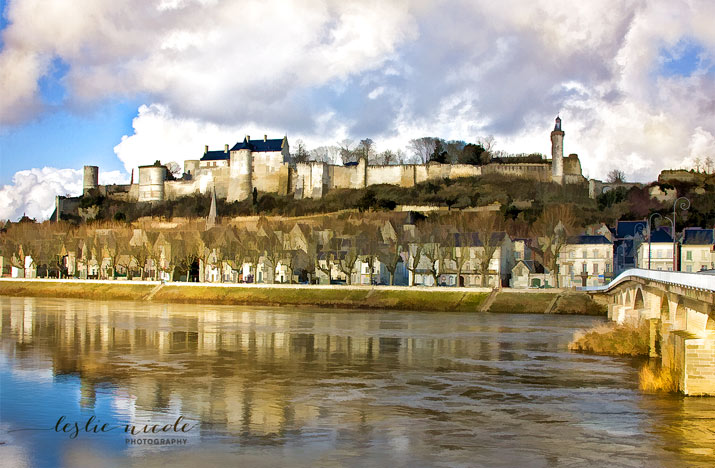Chateau de Chinon by Leslie Nicole using Topaz Simplify.
