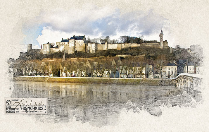 Chateau de Chinon by Leslie Nicole using Simplify.