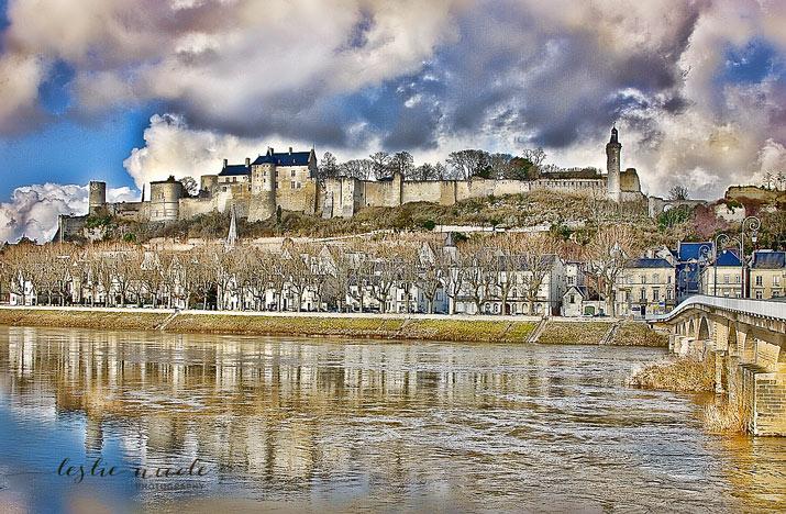 Chateau de Chinon by Leslie Nicole