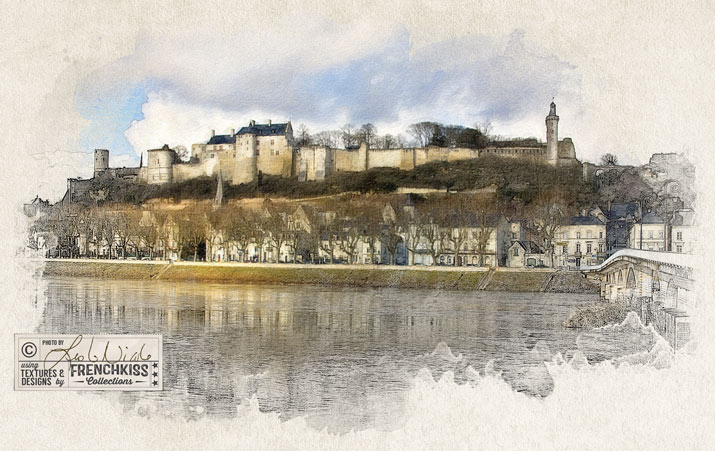 Chateau de Chinon by Leslie Nicole using Snap Art.