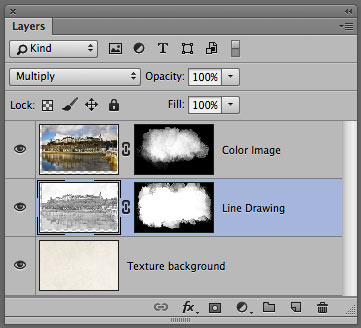 Photoshop Layer Panel showing illustration technique