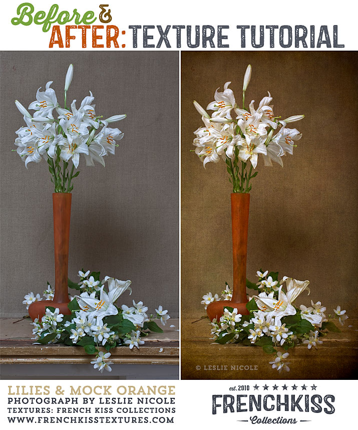 efore and After Textured Lilies Tutorial