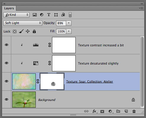 Photoshop Layer panel for texture.